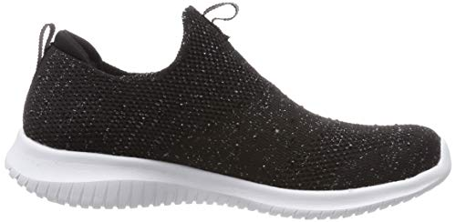 thrive Para Negro Skechers Zapatillas Sin Up Ultra black Flex Silver Bksl Mujer Cordones R66wqTS4na