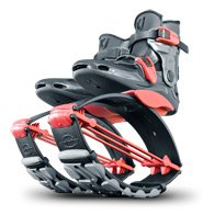 Kangoo Jumps Power Shoes (Child's Model) (Titanium & Red, Boy's 4-6 Girl's 5-7)