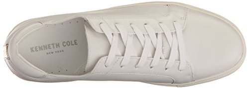 Kenneth Cole New York Femmes Abbaye Plate-forme Lace Up En Cuir Mode Sneaker Blanc