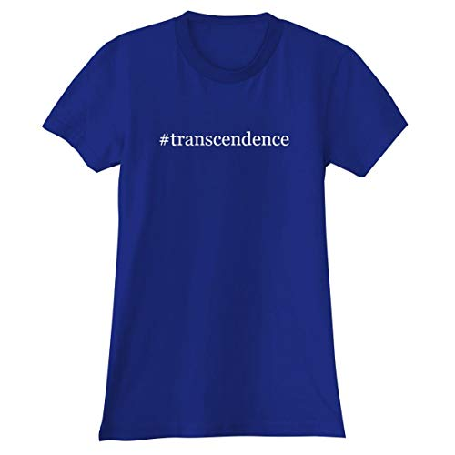 The Town Butler #Transcendence - A Soft & Comfortable Hashtag Women's Junior Cut T-Shirt, Blue, X-Large