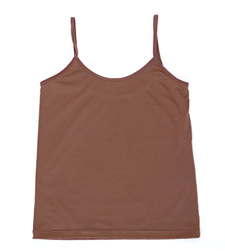 Delicate Seams Training Camisole Luxury Lightweight Stretch for Girls (Small (9/10), Chocolate)