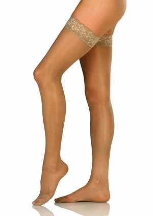 40 Thigh High Bronze - BSN Medical/Jobst 119149 Ultra Sheer Compression Stocking, Thigh High, 30-40 MMHG, Closed Toe, Sun Bronze, Medium, Pair