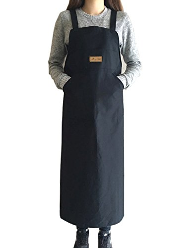 IN n ART Artist Apron/Long Apron - Navy Blue