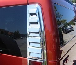 (Hummer H2 Chrome Rear Upper Vent Covers - Fits the 2003, 2004, 2005, 2006, 2007, 2008, 2009 Hummer H2 )