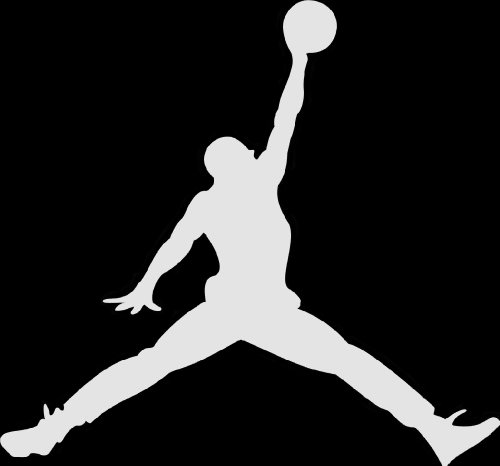 "Air Jordan Jumpan Vinyl Decal, 6"" (White)"