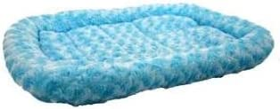 Pet Tek DPK89032 Dream Zone Series 2000 Fleece Dog and Cat Bed, 24 by 19-Inch, Blue