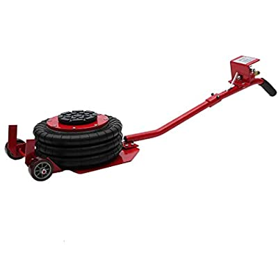 Kath 3 Ton Triple Bag Air Jack, 6600LBS Weight Capacity Extended Handle Pneumatic Air Jack Lift for Fast Set Up on Frame Machine