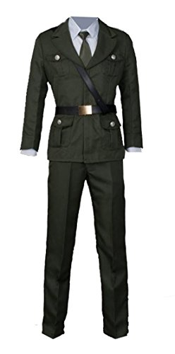 High Quality Custom Made Costumes (Axis Powers Hetalia UK Cosplay Uniform Suit Outfit Custom Made M)