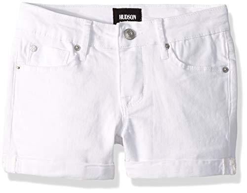 HUDSON Girls' Toddler Roll Cuff Short, Bria Vintage White Wash 2T