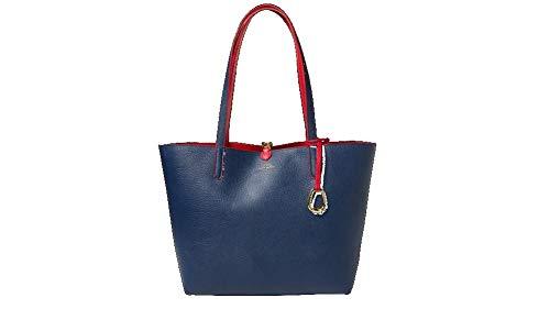 Merrimack Borsa Rosso Lauren Ralph Reversibile Shopping navy E8wxCn5qn