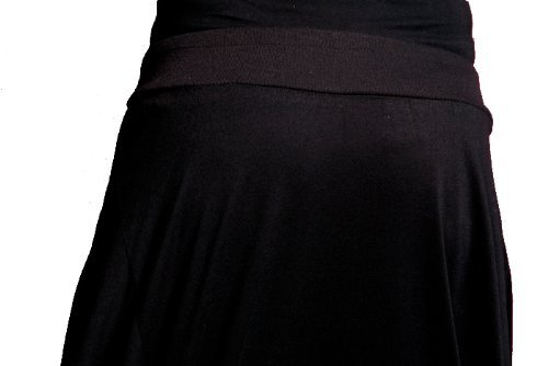 ELLAZHU Mujeres Cabra Capri bragas del cortocircuito pantalones GY09 Black