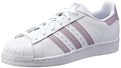 adidas Women's Superstar Trainers, Footwear White/Soft Vision/Core Black, 5 US
