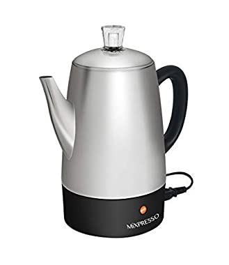 Mixpresso Electric Coffee Percolator | Stainless Steel Coffee Maker