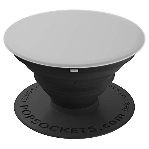 All Plain Solid Gray Pop Socket Argent