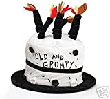 Old And Grumpy Birthday Hat With Candles Great For Party