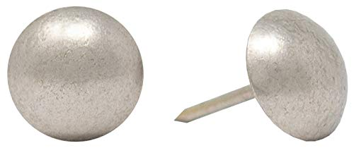 "ComfortStyle Premium Grade Upholstery Tacks, Nailhead Decorative Trim for Furniture, 5/8"" Diameter, 100 Nails (Pewter Nickel)"