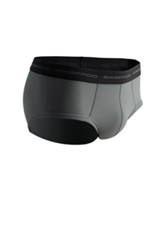 (ExOfficio Men's Give-N-Go Flyless Brief, Charcoal,)