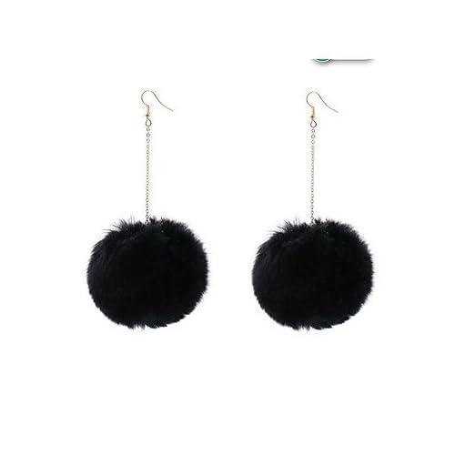 MJW&EH Femme Boucles d'oreille gitane , Décontracté Mode Flanelle Toison Forme de Cercle Bijoux Quotidien Sortie Bijoux de fantaisie , one size
