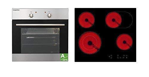 Respekta Einbau Herdset Backofen Set Autark 6 Funktionen Steckerfertig Ceran  Touch Sensor Mega Set 5AN