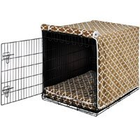 Microlinen Crate Luxury - Luxury Dog Crate Cover Size: Medium (21