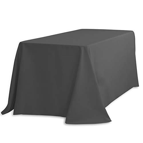 "LinenTablecloth Rectangular Tablecloth, 90 x 132"", Charcoal"