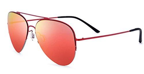 B MOQJ Gafas Ligeras Mujeres Medio de de Marco Sol A de de Sol de Titanio Gafas Aleación Gafas de de Las Conducción RqwRp