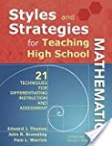 Styles and Strategies for Teaching High School Mathematics, Thomas, Ed, 1582840482