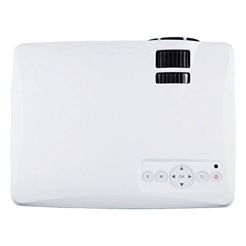 1500 lumens mini hd video projector 1080p weiliante for Mini portable projector for ipad