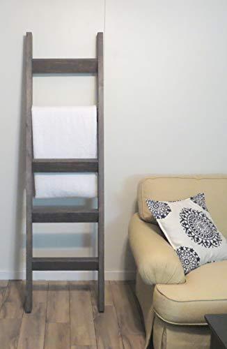 (6 ft Blanket Ladder, Rustic Pine Wood Blanket Ladder, 72 x 20 Solid Wood Blanket Ladder, Rustic Warm Home Decor)