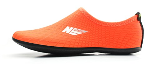 NBERA 2econdskin Durable Outsole Barefoot Water Skin Shoes For Beach Swim Surf Yoga Exercise Orange BL40SGB