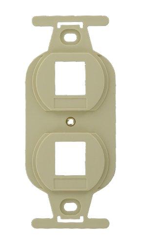 Leviton 41087-2IP QuickPort Duplex Type 106 Insert, 2-Port, Ivory