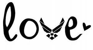 - Air Force USAF Military Vinyl Decal Sticker|BLACK|Cars Trucks Vans SUV Laptops Wall Art|5.5