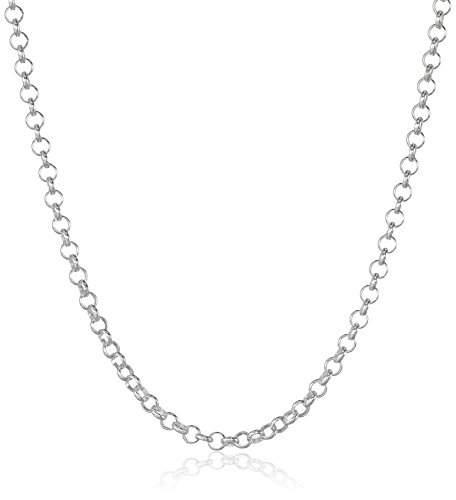 Sterling Silver 2mm Rolo Chain Necklace, (Classic Rolo Chain)