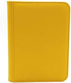 Yellow Dex Protection Zip Binder 4 Card Storage Zipper Binder