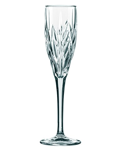 Spiegelau & Nachtmann, 4-teiliges Sektkelch-Set mit Schliffdekoration, Kristallglas, 140 ml, Imperial, 0093427-0