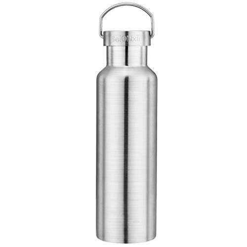- Stainless Steel Water Bottle lid Beionxii 600ml 22 oz Double Wall Vacuum Insulated BPA Free Leak Proof Thermos Flask 24 Hours Cold / 12 Hours Hot Water Jug for Essential Oils Perfect for Cyclists,Work