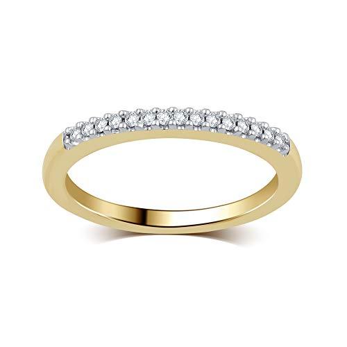 (DiamondMuse 1/10 Carat Round White Diamond Wedding Band & Stackable Set in 10K Gold (I-J, I3))