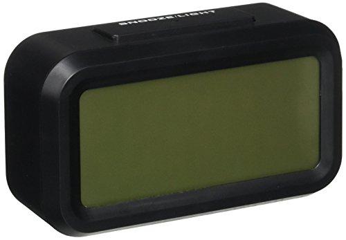 "EIALA 5.4 "" Light-sensor Smart Simple and Silent Alarm Clock w/ Date Temperature Display Repeating Snooze and Sensor Light + Night Light Progressively Louder Wakey Alarm (Black)"
