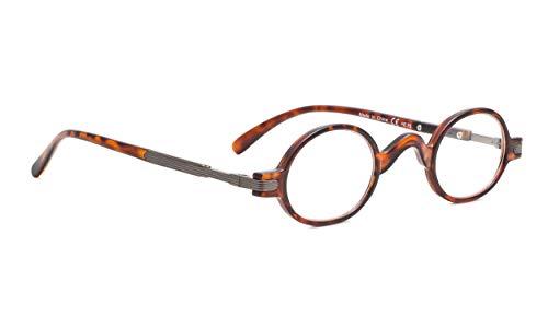 Vintage Round Reading Glasses Professor Readers(Tortoise,+1.50) (Mens Reading Glasses Round)