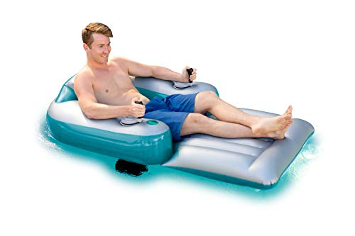 Poolcandy Splash Runner Motorized Inflatable Swimming Pool Lounger - Fun Cool Float for a Pool or Lake Party