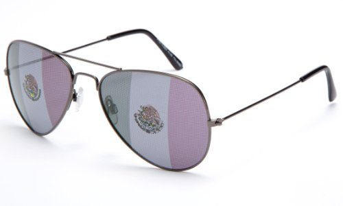 Kyra World Cup 2014 Mexico United States Flag Patriotic Olympic Soccer Aviator Style - Glasses Mens 2014 Styles