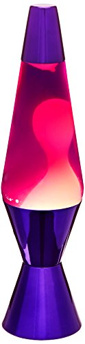 Lava the Original 2158 14.5-Inch Purple Metallic Base Lamp - Chrome Lava Lamp