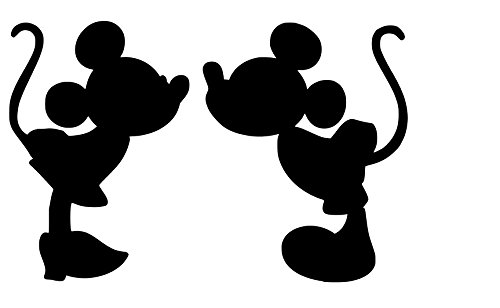 Mickey and Minnie Kissing - Vinyl - Decal - Sticker