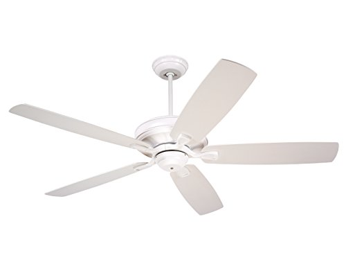 UPC 030844035104, Emerson Ceiling Fans CF784SW Carrera, 60-Inch Indoor Ceiling Fan, Light Kit Adaptable, Satin White Finish