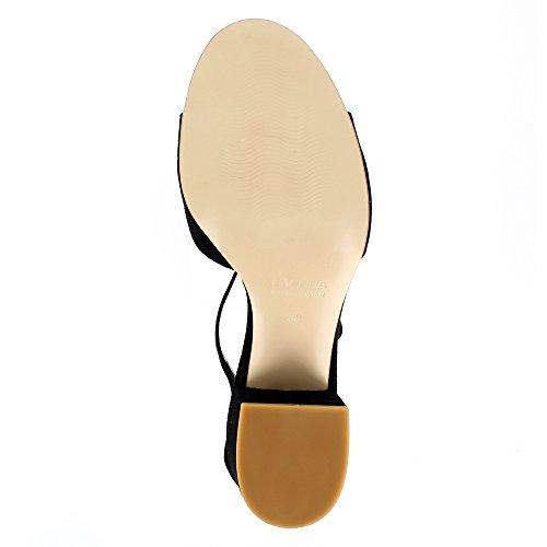 Evita Shoes Mariella Sandales Femme Daim Noir MBetDCOrkV