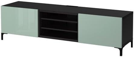 Ikea - Mueble de TV con cajones, Color Negro y Verde Claro: Amazon ...