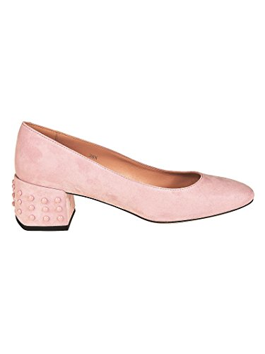 Tod's Structured Heel Pink Suede Pumps Rosa Donna 36½ 2014 unisex sale sneakernews awZaR