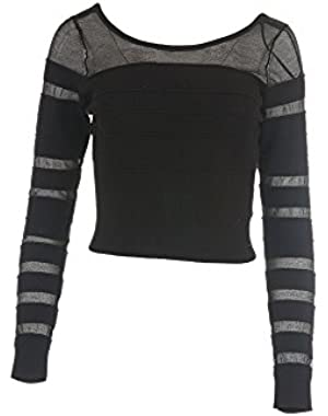 GUESS Bandage Cropped Sweater