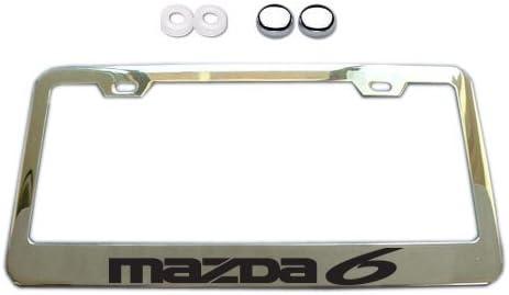 Mazda 6 Chrome License Plate Frame w// Screw Covers
