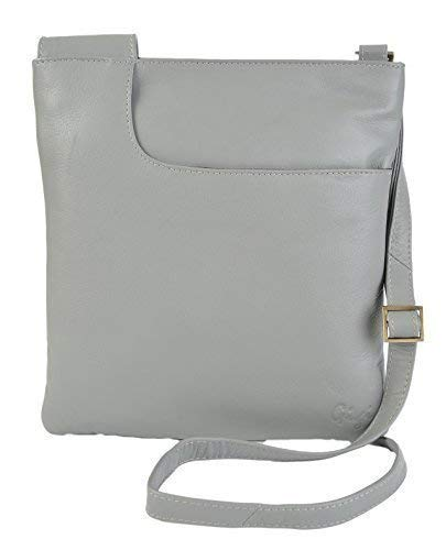 Grey Slim Bag Light Soft Blue Navy Handbag Women's 8082B Leather GIGI Othello Crossbody 47qUI